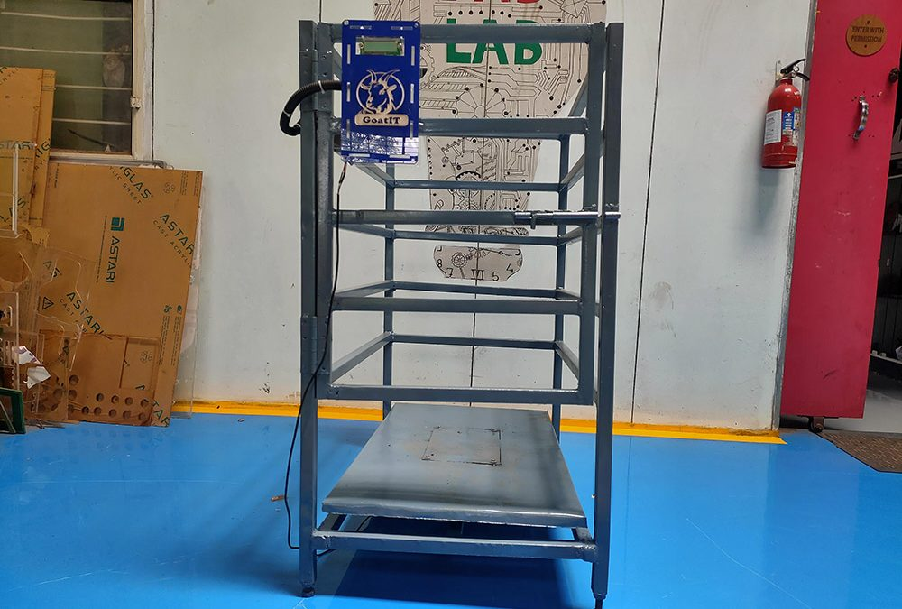 Smart weight measuring unit for goats