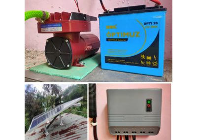 Solar Powered Air Bubbling System